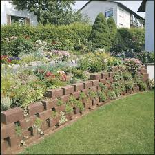 Stone For Garden Walls by Stone Retaining Wall Modular For Garden Enclosures Tromalit