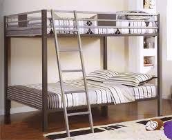 Cletis Silver  Gun Metal Full Over Full Bunk Bed - Full over full bunk bed