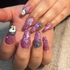 nails design bow beautify themselves with sweet nails