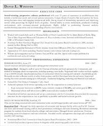 Sample Executive Chef Resume by Executive Resume Templates 27 Free Word Pdf Documents Download