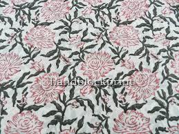 Indian Curtain Fabric Hand Block Print Cotton Fabric Indian Cotton Floral Print Loose