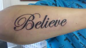 believe lettering on inner arm photo 2 photo pictures