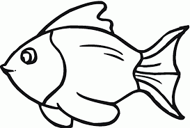 drawn fishing outline drawing pencil and in color drawn fishing