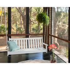 Vineyard Bench Polywood Vineyard 60 Inch Swing Bench Usa Made Outdoor Swinging