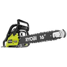 ryobi 16 in 37cc 2 cycle gas chainsaw with heavy duty case ry3716