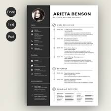 Resume Indesign Template Indesign Resume Template Photos Graphics Fonts Themes
