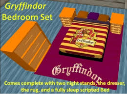 gryffindor bedroom second life marketplace gryffindor bedroom set boxed