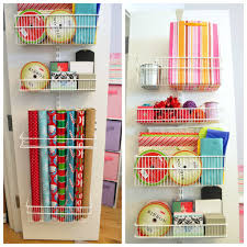 door wrapping paper storage closed doors storage organizations and organizing