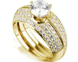 gold wedding rings in nigeria half eternity wedding band diamond engagement ring set 2 1 4