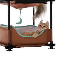 amazon com kitty city 17 u0027 u0027 sleeper steel cat condo cat houses