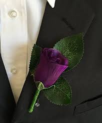 boutonniere prom boutonniere purple boutonniere with pin for