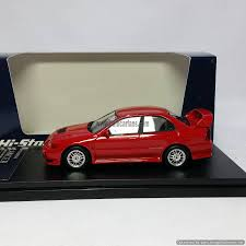 mitsubishi red 1 43 mitsubishi lancer grs evolution iv 1996 red hi story model