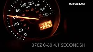 2014 nissan 370z quarter mile time all motor 370z 0 60 in 4 1 seconds youtube
