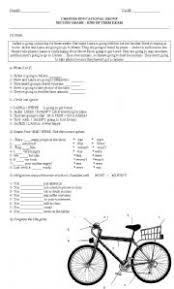 kids test going to reading comprehension simple past to be