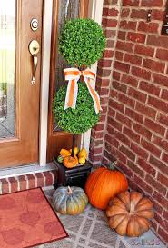 fall front porch decor our happy harvest at home