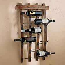 personalized barrel stave wall mounted wine racks kitchen