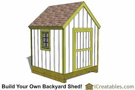 How To Build A Small Backyard Storage Shed by 8x8 Storage Shed Plans Easy To Build Designs How To Build A Shed