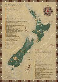 New Zealand Map New Zealand Film Locations Map Updated By Starsong Studio The
