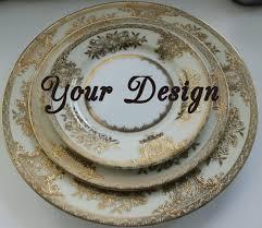 monogrammed dishes custom 3 personalized place setting noritake bespoke
