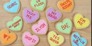 valentines cookies check out these adorable conversation s heart cookies