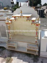 natural white indian marble mandir design for home pooja room