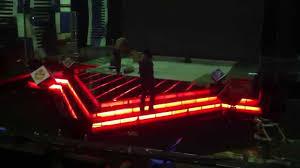 Install Led Light Strip by Install Led Strip Light Under The Floor Of Mytv With Dmx 512 Usb
