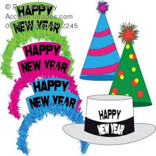 new year party supplies clip illustration of a of new year s party hats and tiaras