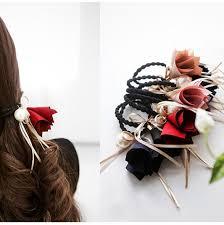 bungees hair hair accessories pearl rubber bands headwear for women elastic