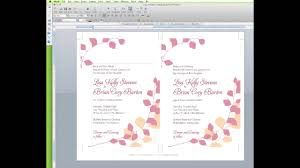 how to edit a wedding invitation template in word youtube