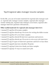 how to write an email with resume top8regionalsalesmanagerresumesamples 150426010920 conversion gate01 thumbnail 4 jpg cb 1430028607