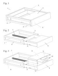 patent us20140111072 foot operated toe kick kitchen stool and