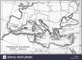 Dia Map Map Of Phoenician Trade Routes And Colonies Circa 1000 Bc Stock
