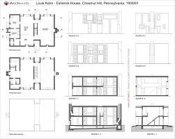 building plans for house house plan esherick house kahn houses esherick