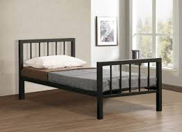 time living metro 3ft single black metal bed frame by time living