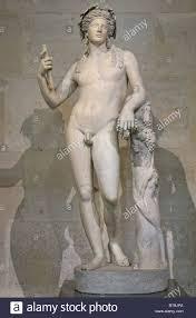 dionysus greek god statue statue of bacchus roman or dionysus greek god of grape harvest stock