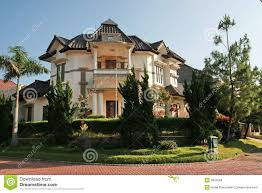 Tropical House Plans Tropical House In Indonesia Stock Images Image 3810594