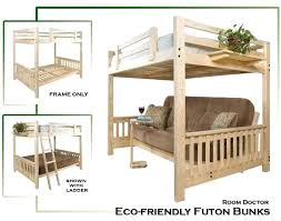 Bunk Bed With Futon On Bottom Loft Bed With Futon Size Bunk Bed With Futon On Bottom Loft