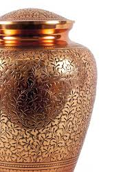 Vase For Ashes Handsome Copper Plated Brass Urn For Ashes All Urns Urns