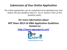 mit sloan 2013 14 mba application guidelines