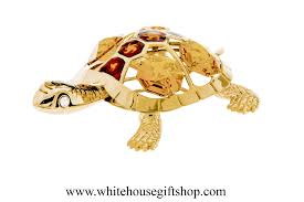 ornament gold eastern painted turtle ornament or desk model
