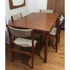 Teak Dining Room Furniture by Furbo Mid Century Danish Teak Expandable Dining Table U0026 Chairs