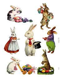 vintage rabbit vintage easter bunny instant rabbit clip for gift