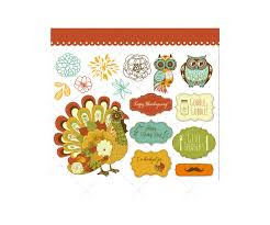 happy thanksgiving day vector illustrations contains colorful