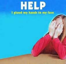 Hands On Face Meme - dopl3r com memes help i glued my hands to my face