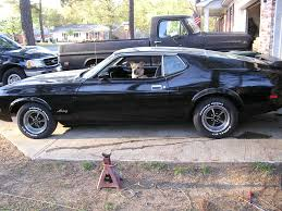Black Mustang Mach 1 1973 Ford Mustang Fastback