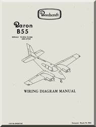 beechcraft baron b 55 aircraft wiring diagram manual aircraft