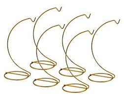 gold ornament stands set of 6 brass metal