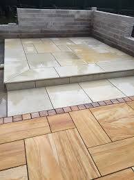 Indian Sandstone Patio by Mint Sawn Smooth Sandstone 4 Size Mixed Patio Pack 20m2 Coverage