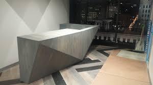 Modern Reception Desks by Hand Made Custom Modern Reception Desk By The Urban Reclaimed Co