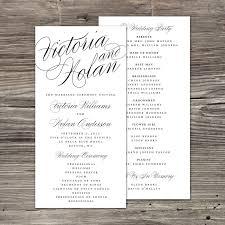 Wedding Program Stationary Nagy Név Rövid Program Családi Nevek Lelkész Koszorúslányok